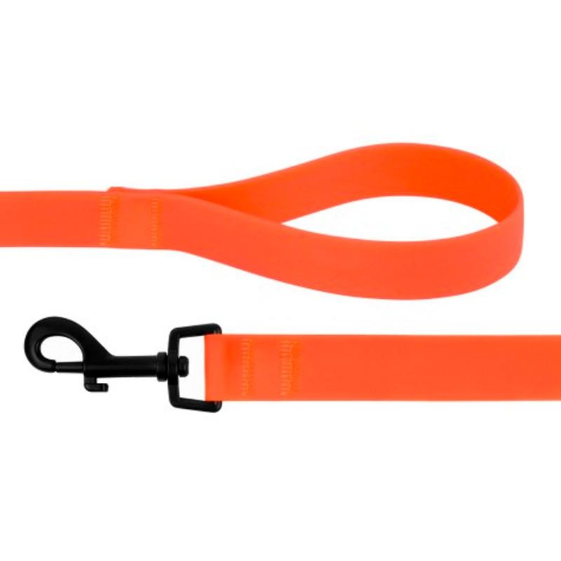 6134 Поводок СИЛИКОН 10мм*152см оранжевый  59Т      -.-/ 0