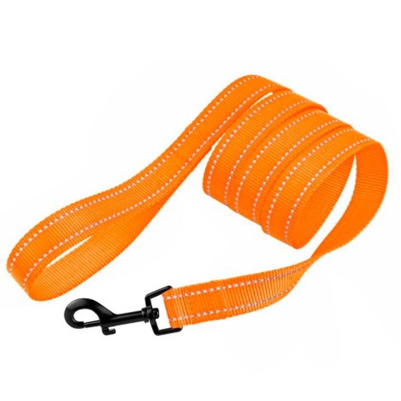 1304 Поводок ACTIVE светоотр 10мм*152см КАПРОН оранжевый  59Т      -.-/ 0