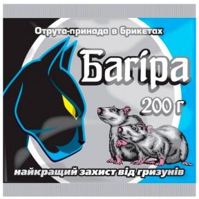 Багира (брикеты против грызунов), пакет, 200г, Украина *3шт*